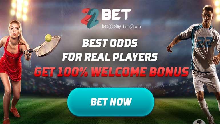 22 Bet Sportsbook - Get 100% up to €/$300 Welcome Bonus